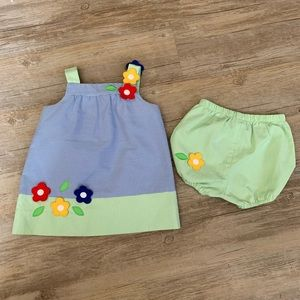 Baby Girl Dress and Bloomers Florence Eiseman 12M